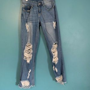 Rue 21 Distressed Mom Jeans, Size 2, Never Worn
